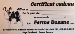 Certificat cadeau disponible