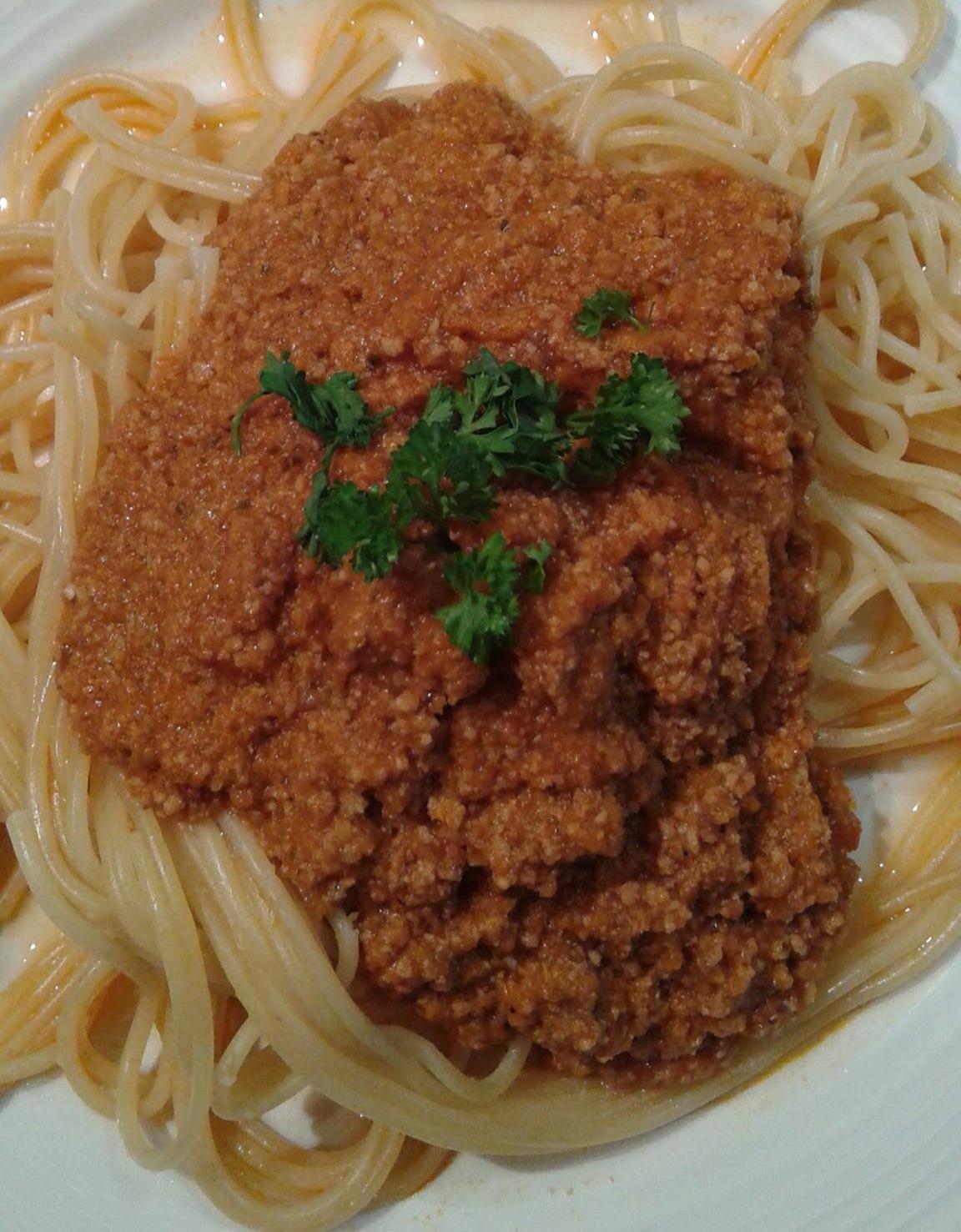 sauce à la viande d'agneau et tomate