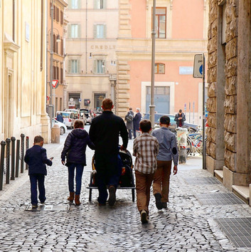 Walking the streets of Rome