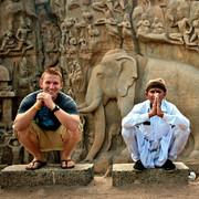 Greg at Mahabalipurum, India
