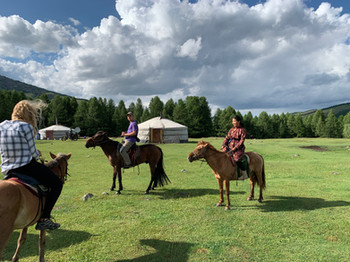Horses & staying in yurts in Mongolia