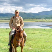 Riding horses in Mongolia
