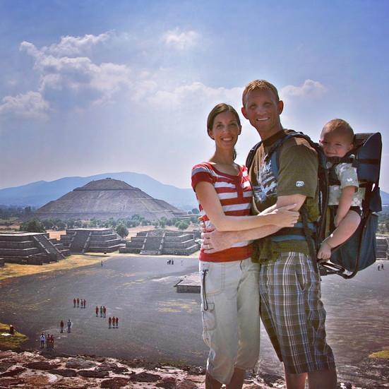 Greg, Rachel, & Atlas at Teotihuacan, Mexico