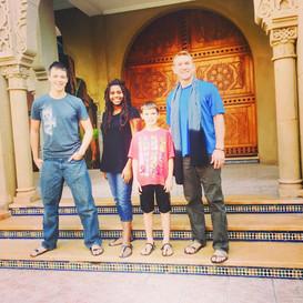Greg & kids in Morocco