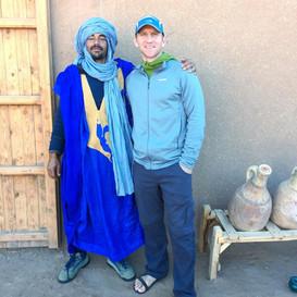 Greg in M'hamid, Morocco