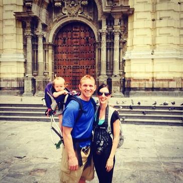 Greg, Rachel, & Saige in Lima, Peru