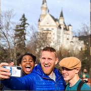 Greg, Kimball, & Kyah at Neuschwanstein castle in Germany