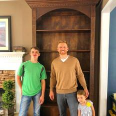 Greg & Kimball built this bookshelf!