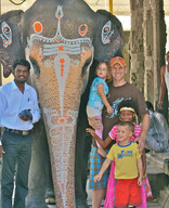 Greg and kids in India
