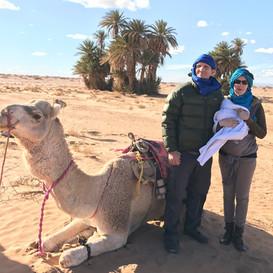Greg, Rachel & Saandriana in the Moroccan Sahara