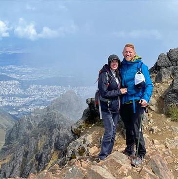 Greg & Rachel on the peak of Rucu Pichincha, Ecuador
