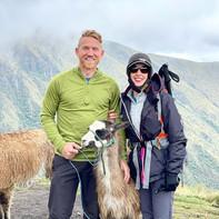 Greg and Rachel hiking in Quito, Ecuador