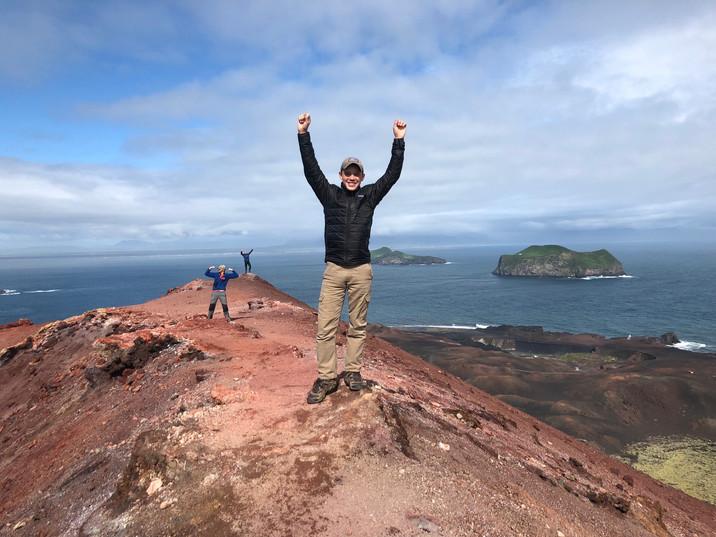 Climbing volcanoes in Iceland