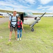 Greg & Atlas (10) skydiving in Monterrey, Mexico