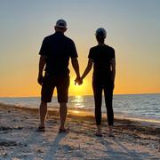 Greg & Rachel at the beach in Sabancuy, Mexico