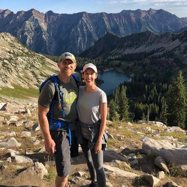 Greg & Rachel hiking