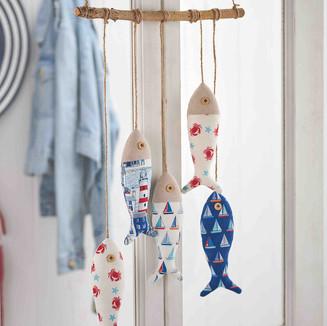 Hanging fish decorations