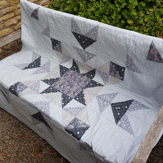 Winter in Bluebell Woods quilt