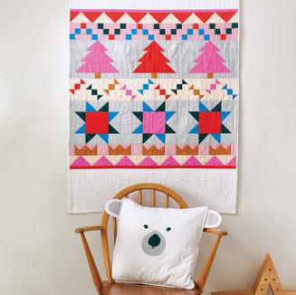Polar Party quilt and polar bear cushion