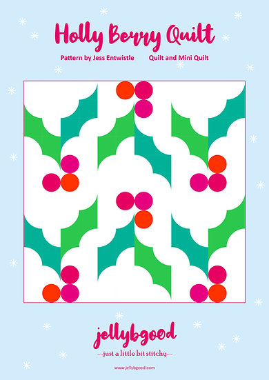 Holly Berry Quilt PDF pattern