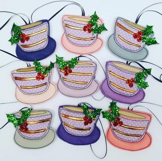 Christmas decorations for a Tea Room