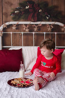 Milk and cookies toddler photography session