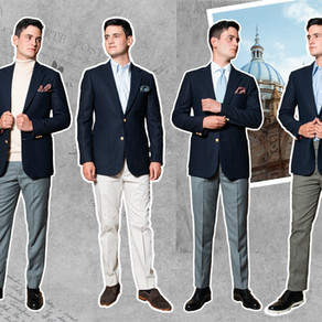 4 maneras de vestir un Navy Blazer