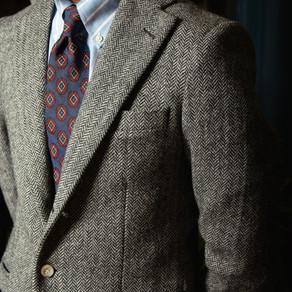 Model B06 - Herringbone Shetland Wool