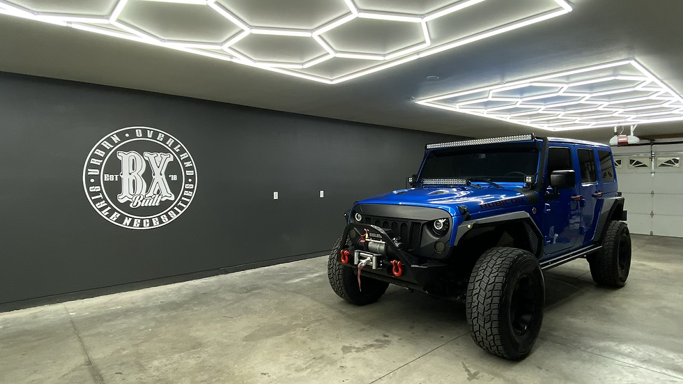 BXBuilt Modular Hex Garage/Office lighting