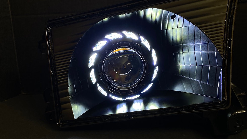 96-02 4runner Black Friday Headlights with Switchback Halos sale