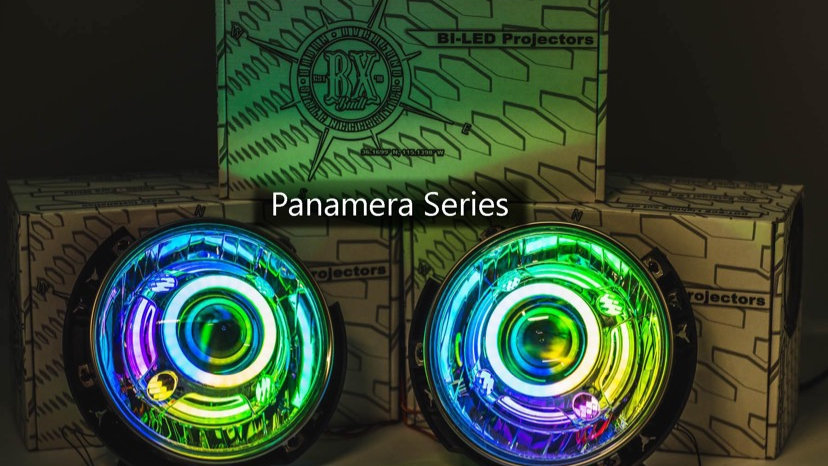 """Jeep 7"""" Round lights with DOUBLE HALOS (switchback or RGB)"""