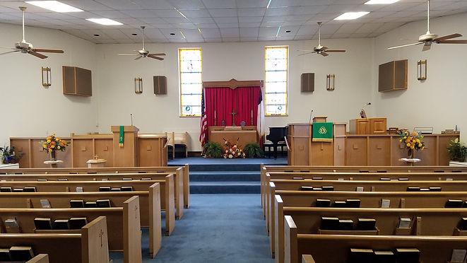 Ebenezer sanctuary, service, pulpit