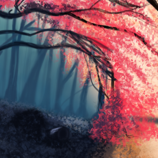 .:Forest digital painting:.