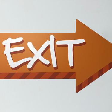 All Graffix Exit Pijl paneel