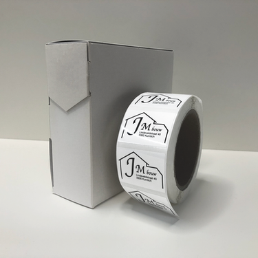 Labels op rol JM bouw