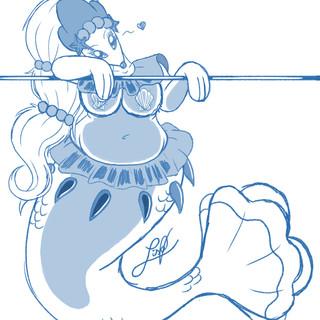 .:Primarina - captured queen of the sirens (sketch):.