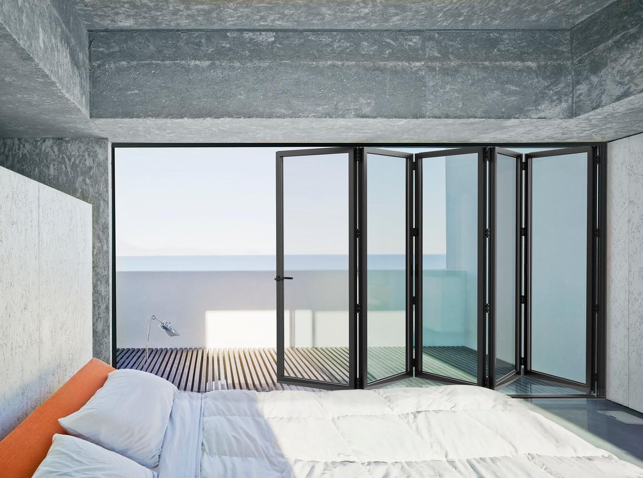 Cortizo Bi-Fold Door in Anthracite Grey