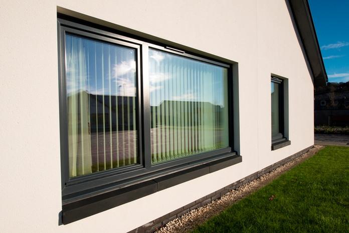 Rehau Total70 Tilt & Turn Window in Grey