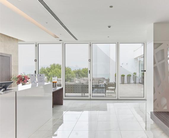Cortizo Bi-Fold Door in White