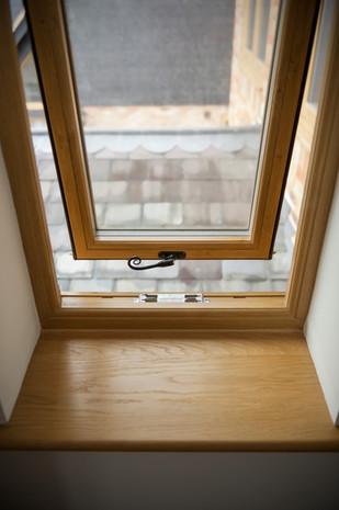 Flush Sash Window in Irish Oak