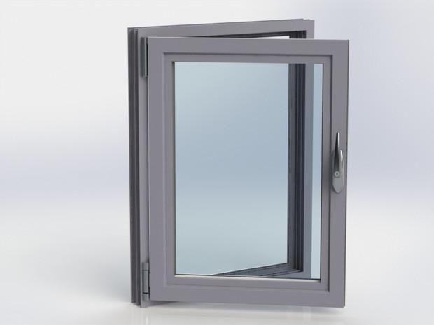 Kestrel Tilt & Turn Window in Grey Turn