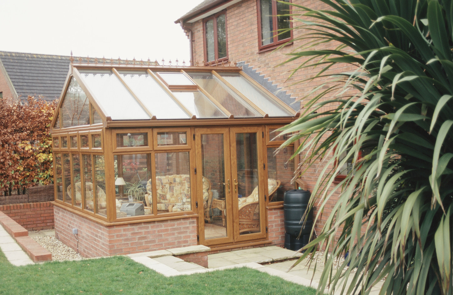 Rehau Total70 Conservatory in Irish Oak
