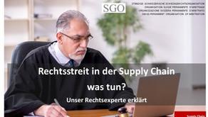 Rechtsstreit in der Supply Chain
