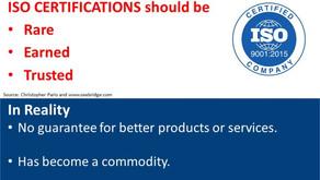 ISO9001:2015 kein Mehrwert