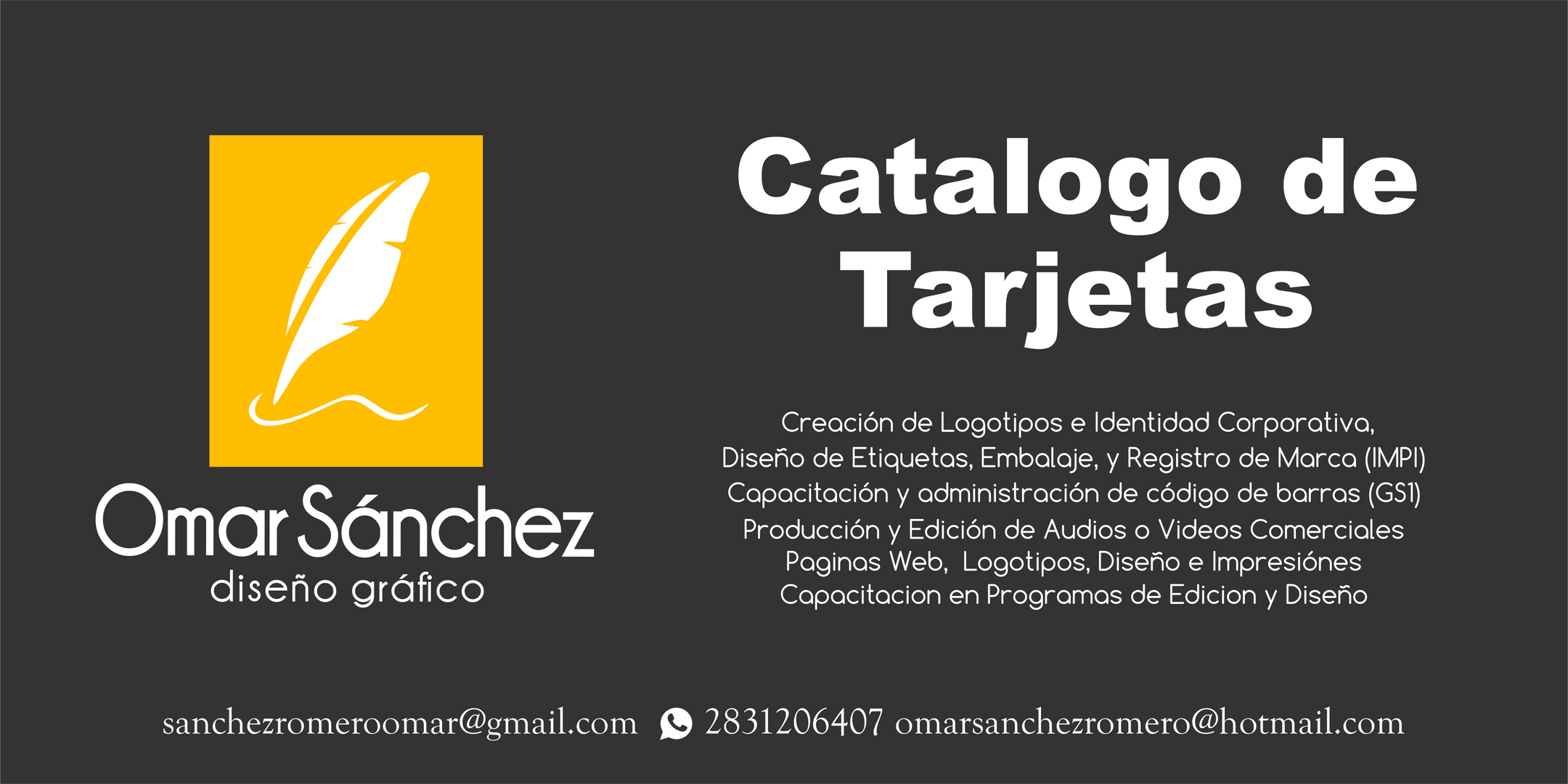 Catalogo de Targetas de Presentacion