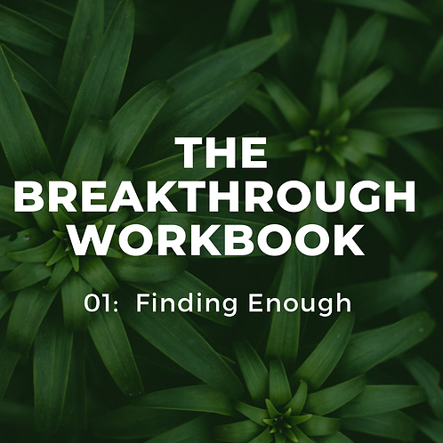 01 Finding Enough Workbook
