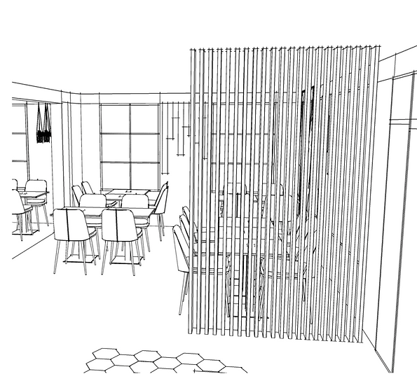 modélisation 3D restaurant