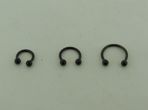Black Steel Circular 1.6mm