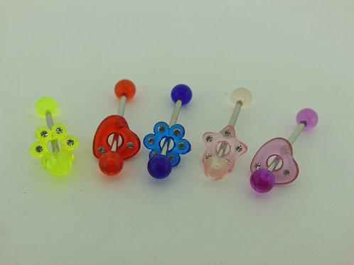 Assorted Plastic Ball/attachment Tongue Bar
