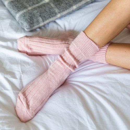Tom Lane Pink Alpaca Wool Socks